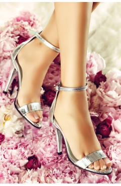 Sandale Adeline Croco Argintiu