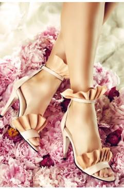 Sandale dama din piele naturala roz Krissy