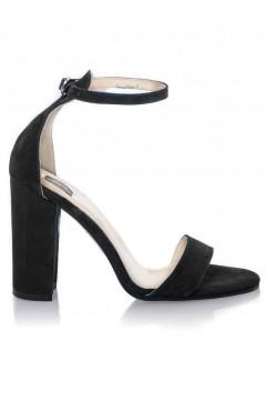 Sandale dama din piele naturala Thea Negre
