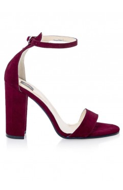 Burgundy Thea Sandals