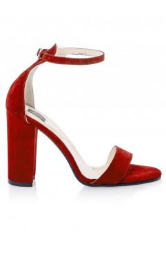 Sandale dama din piele naturala  Thea Rosii