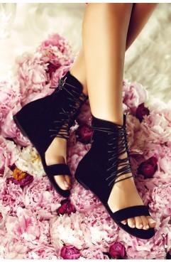 Sandale dama din piele naturala Eliza Negre