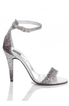 Silver Glitter Adeline Sandals