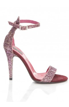 Purple Glitter Adeline Sandals