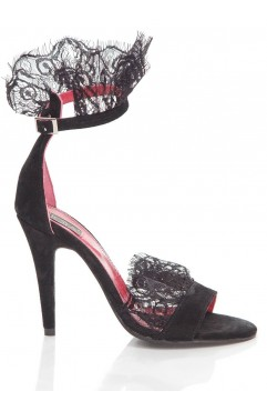 Sandale dama din piele naturala cu toc  Juliette
