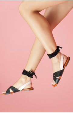Sandale dama din piele naturala negri Sasha