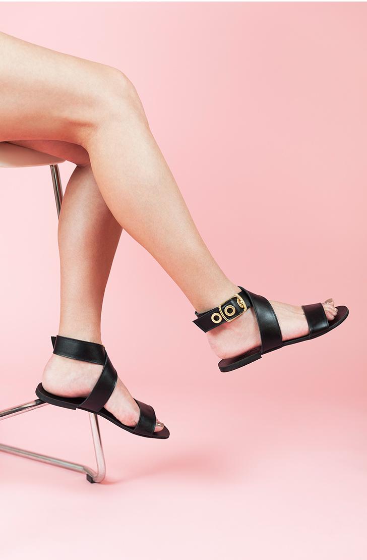 Sandale dama din piele naturala Sophie Negre