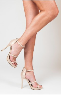 Sandale dama din piele naturala roz Serena