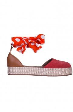Sandale dama din piele naturala Rosii Oreo