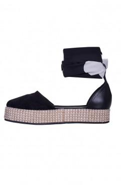 Sandale dama din piele naturala  Oreo Negre