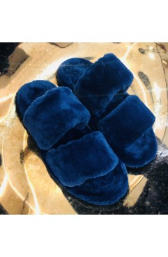 Papuci de casa dama Alfie Royal Blue