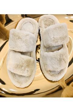 Papuci de casa dama Alfie Light Beige