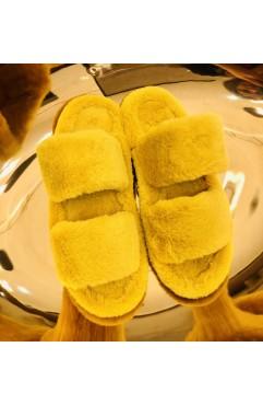 Papuci de casa dama Alfie Yellow
