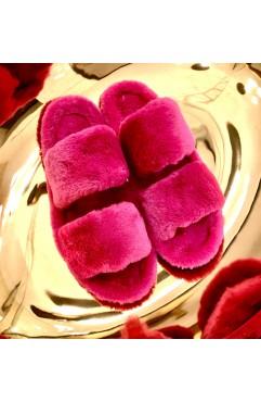 Papuci de casa dama Alfie Fuchsia