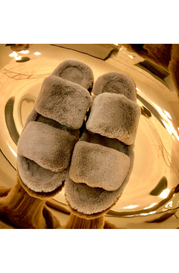 Papuci de casa dama Alfie Light Brown