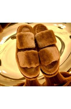 Papuci de casa dama Alfie Hazelnut