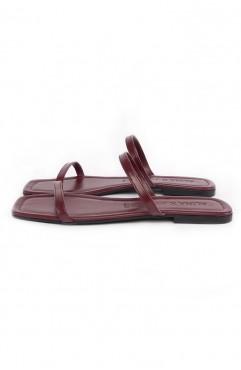 Papuci dama din piele naturala SOUTH OF FRANCE Marsala