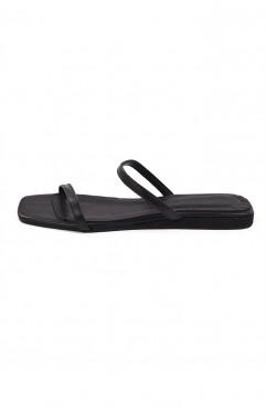 Papuci dama din piele naturala SOUTH OF FRANCE Carbon Black