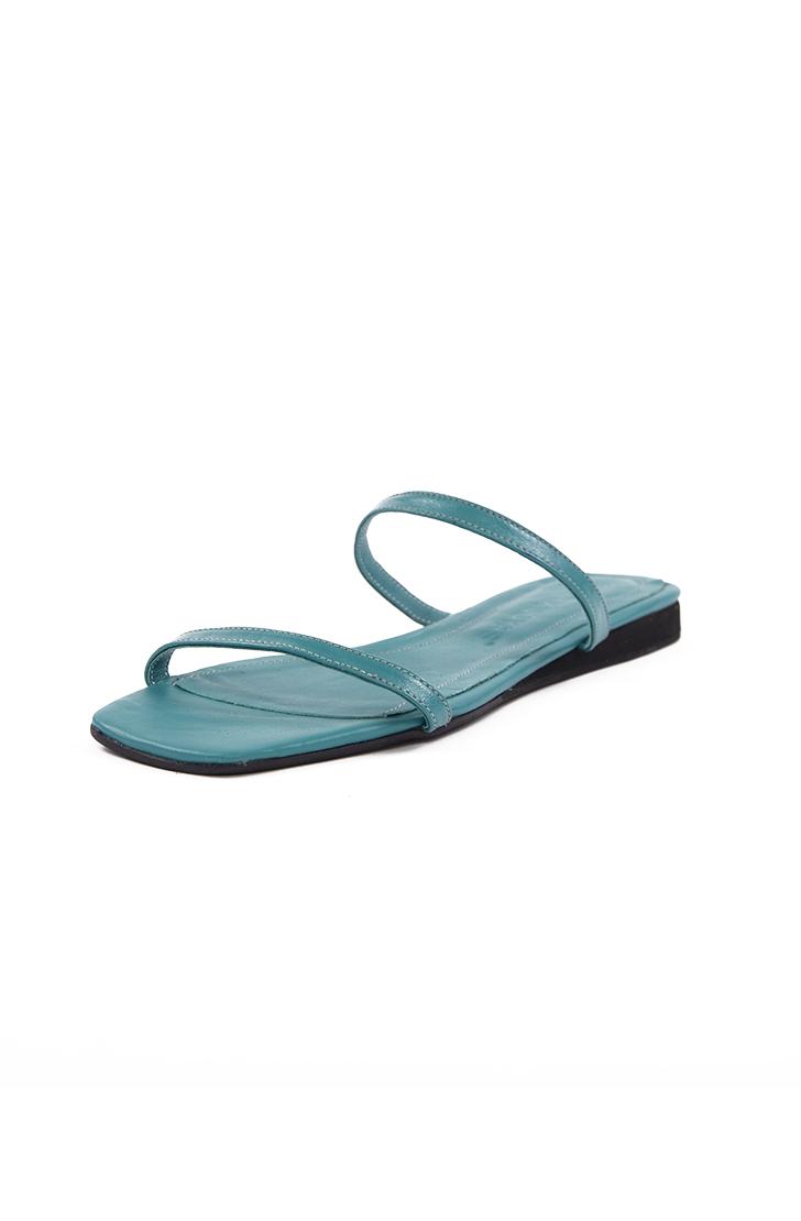 Papuci dama din piele naturala SOUTH OF FRANCE Deep Sea