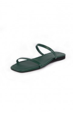 Papuci dama din piele naturala SOUTH OF FRANCE Deep Green