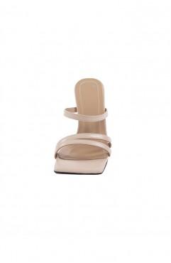 Saboti dama din piele naturala nude SANTORINI Sand