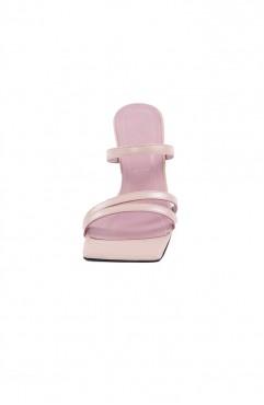 Saboti dama din piele naturala roz SANTORINI Powder Blush