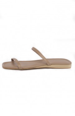 Papuci dama din piele naturala SOUTH OF FRANCE Sand