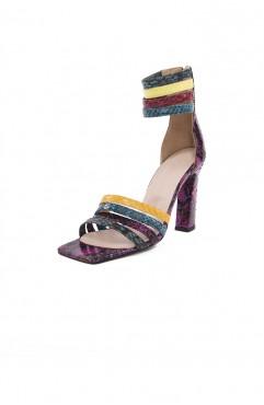 Sandale dama din piele naturala PYTHON