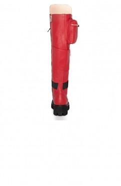 Bocanci dama din piele naturala rosii  BOOT CAMP RED 2.0
