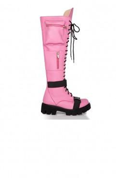 Bocanci dama din piele naturala roz BOOT CAMP PINK 2.0