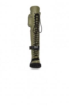 Bocanci dama din piele naturala kaki BOOT CAMP OLIVE 2.0