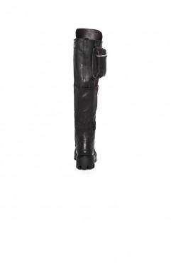 Bocanci dama din piele naturala negri  BOOT CAMP BLACK 2.0