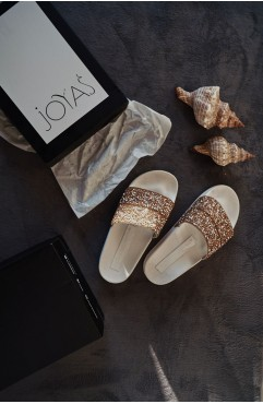 Papuci dama din piele naturala AIRPLANE MODE WHITE
