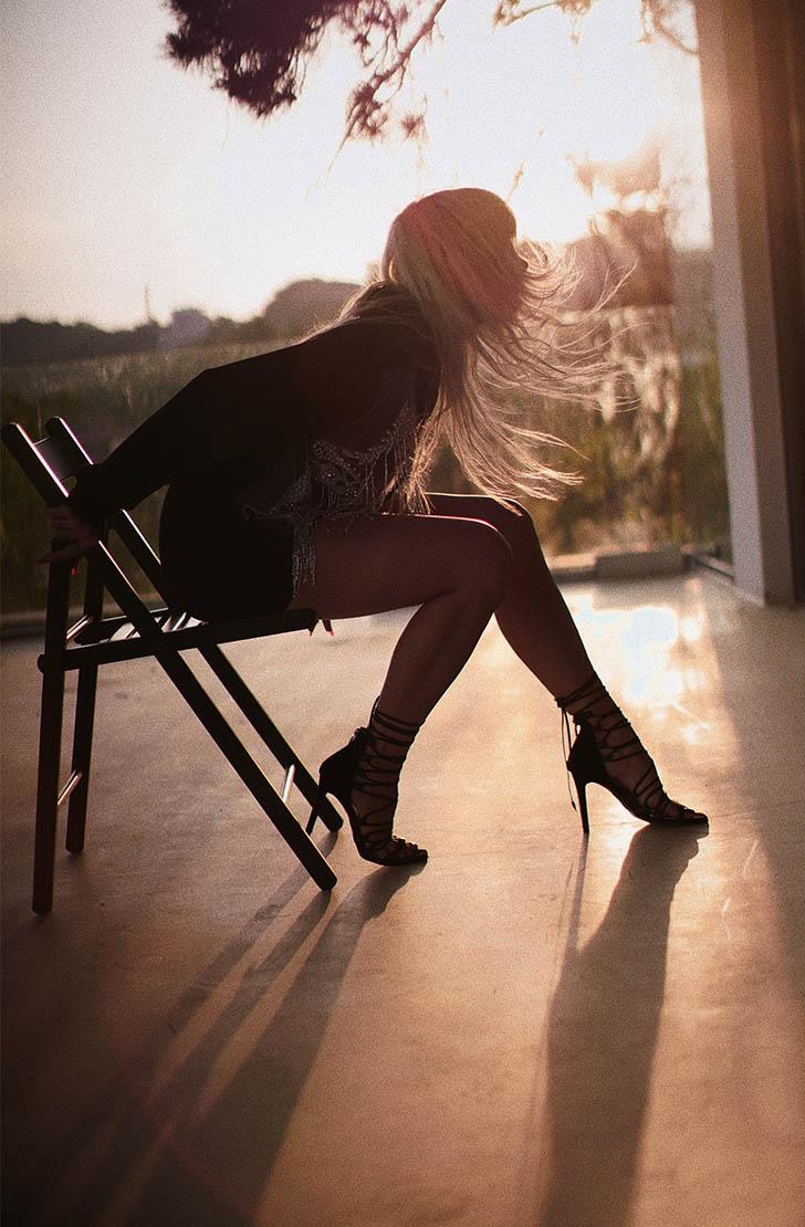 Sandale dama din piele naturala negre  cu toc TIE ME UP