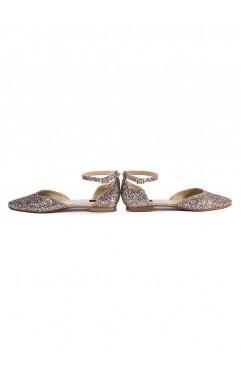 Sandale dama din piele naturala Alexis Aurii