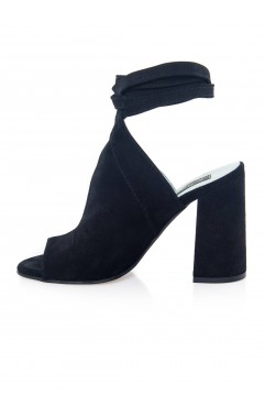 Sandale dama din piele naturala Rocket Negre