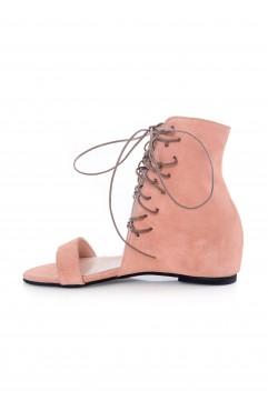 Sandale  dama din piele naturala Eliza Roz