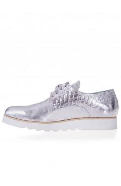 Pantofi Oxford Silver