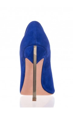 Pantofi Caroline Albastri Piele Intoarsa