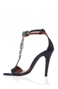 Darlene green detail sandals