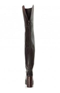 Cizme lungi dama din piele naturala Kate Negre