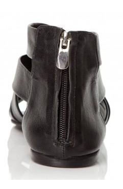 Sandale dama din piele naturala negre Bella