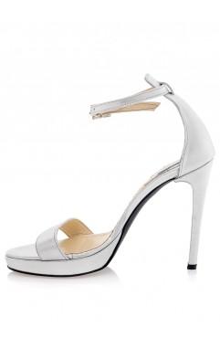 Adeline silver platform sandals