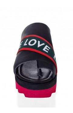 Papuci Negri Fiona