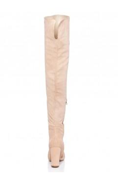 Cizme lungi dama din piele naturala  Clara Nude
