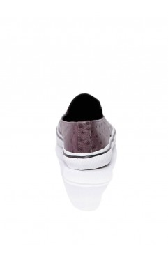 Sneakers dama din piele naturala Isa Burgundy