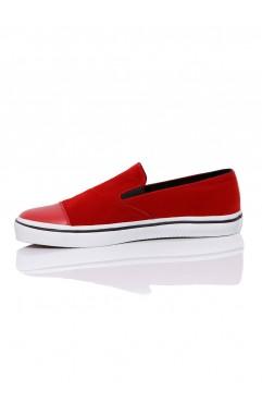 Sneakers Dama Leona Rosii