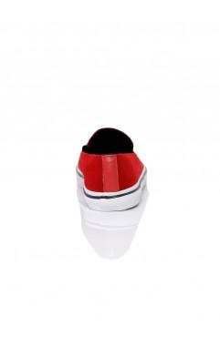 Sneakers dama din catifea Leona Rosii