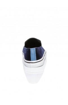 Sneakers dama din catifea Leona Albastri