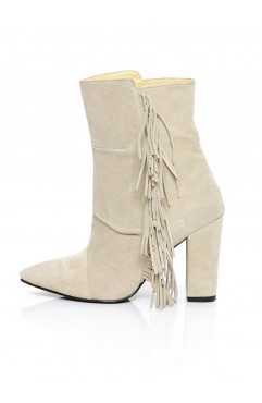 Beige Ankle Boots Arianna